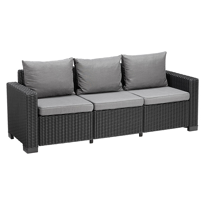 allibert loungem bel set california 4 tlg 2 sessel 3 sitzer sofa beistelltisch anthrazit. Black Bedroom Furniture Sets. Home Design Ideas