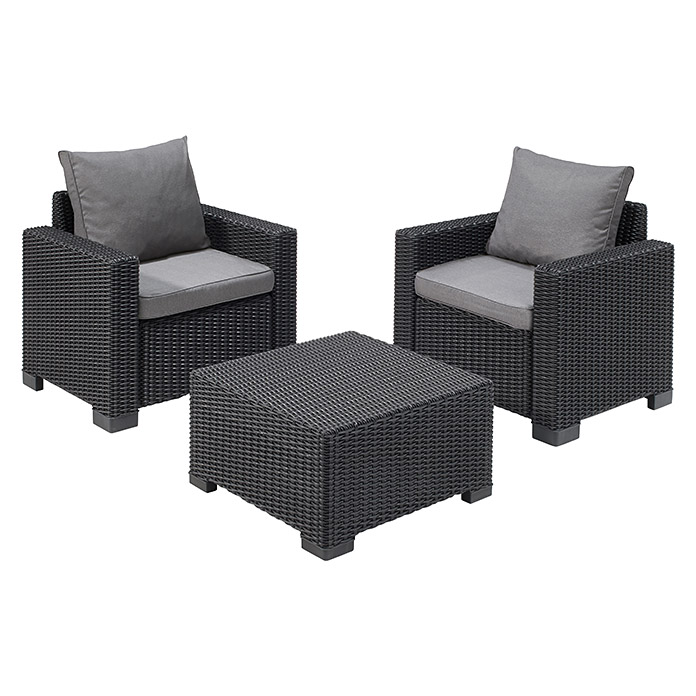 Allibert Loungemöbel-Set California (3-tlg., 2 Sessel, 1 ...
