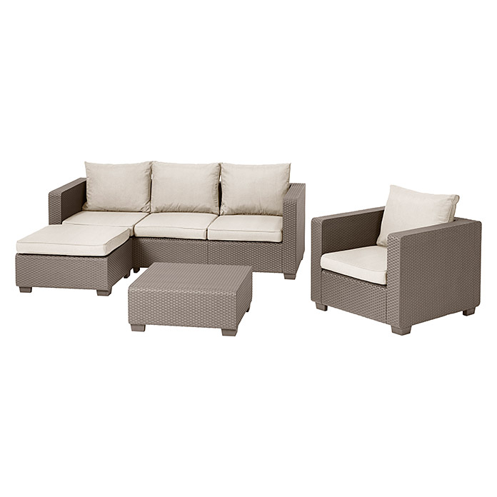 Allibert Loungemöbel-Set Malibu (4-tlg., Polypropylen, Cappuccino ...