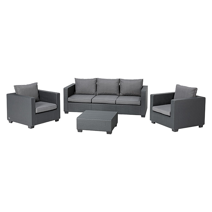 Allibert Loungemöbel-Set Salta (4-tlg., 2 Sessel, 3-Sitzer-Sofa ...