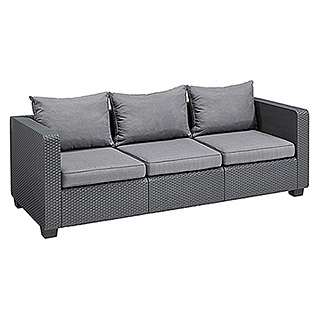 Allibert Loungesofa Salta (200,5 cm, Polypropylen, Anthrazit)