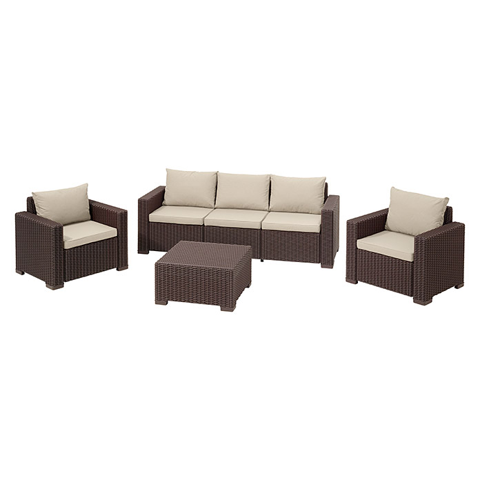Allibert Loungemöbel-Set California (4-tlg., 2 Sessel, 3-Sitzer-Sofa ...