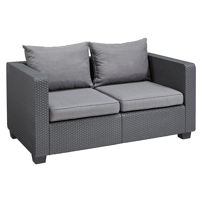 Allibert Loungesofa Salta (141 cm, Polypropylen, Anthrazit)