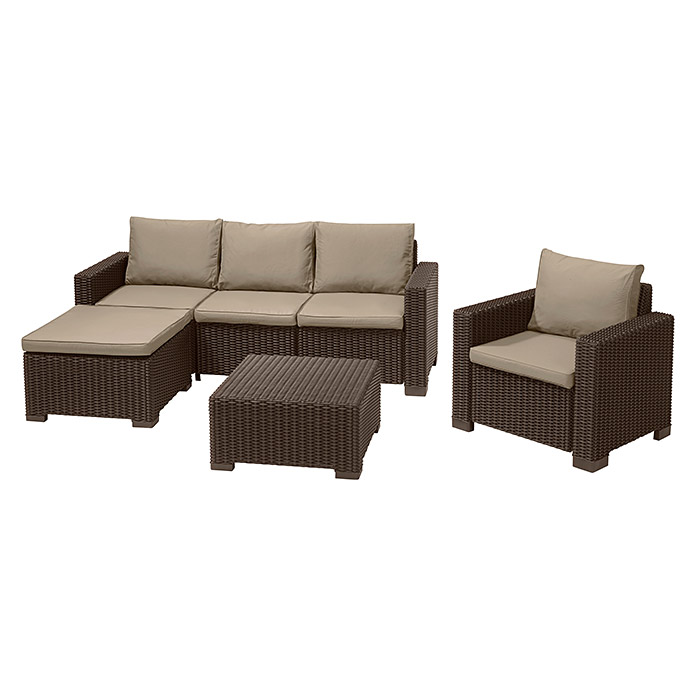 Allibert Loungemöbel-Set Moorea (4-tlg., Polypropylen, Braun) | 8303 ...
