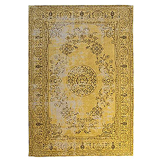 Kayoom Teppich Select 375 (Gold, L x B: 170 x 120 cm, 50% Baumwolle, 50% Polyester Chenille)