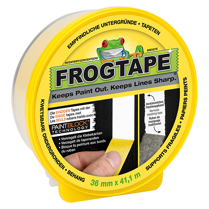 Frogtape Delicate Surface (41,1 m x 36 mm, Gelb)