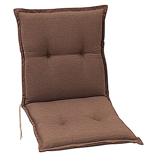 Sunfun Exclusive-Line Stuhlauflage (Minilehner, Taupe, 100 % Polyester)
