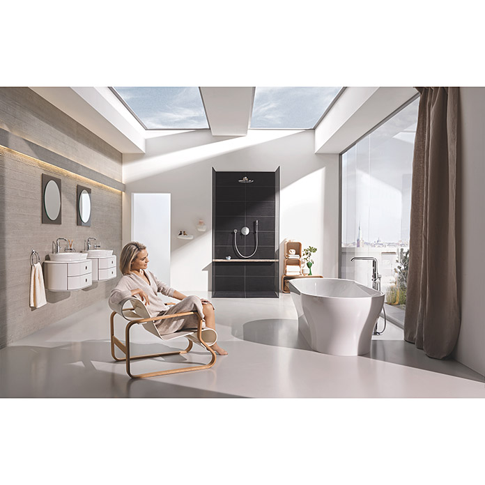grohe essence new waschtischarmatur chrom gl nzend hoher auslauf bauhaus. Black Bedroom Furniture Sets. Home Design Ideas