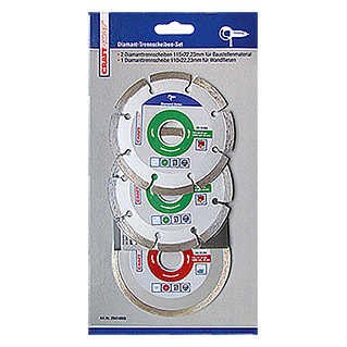 Craftomat Set diamantdoorslijpschijven (Schijfdiameter: 110/115 mm, 3-delig)