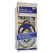Craftomat Set diamantdoorslijpschijven (Schijfdiameter: 125 mm, 4-delig)