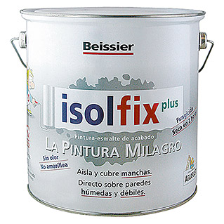 Beissier Pintura antimanchas Isolfix Plus (Blanco, 4 l, Mate)