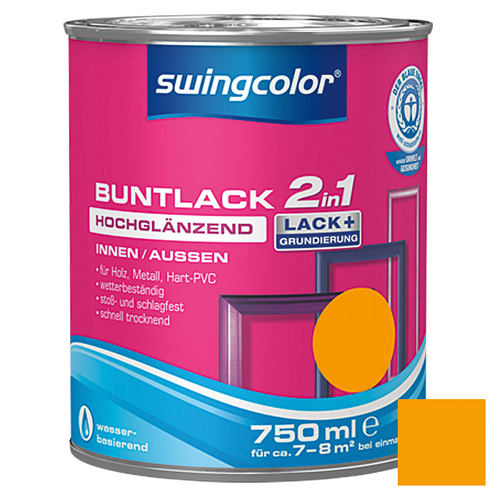 swingcolor 2in1 Buntlack  (Melonengelb, 750 ml)