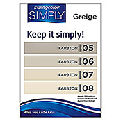 swingcolor Wandfarbe SIMPLY (Beige - Nr. 05, 1 l, Matt)