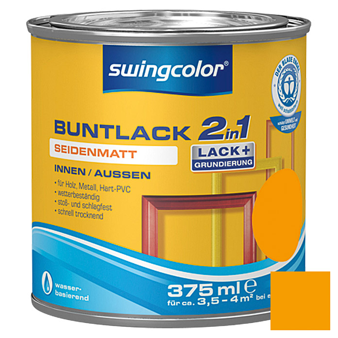 swingcolor 2in1 Buntlack  (Melonengelb, 375 ml)