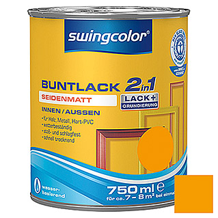 swingcolor 2in1 Buntlack (Melonengelb, 750 ml, Seidenmatt)