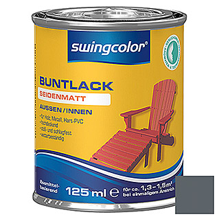 swingcolor Buntlack (Anthrazit/Grau, 125 ml, Seidenmatt)