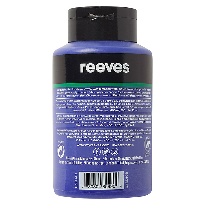 Reeves Acrylfarbe (Ultramarinblau, 400 ml, Tube)