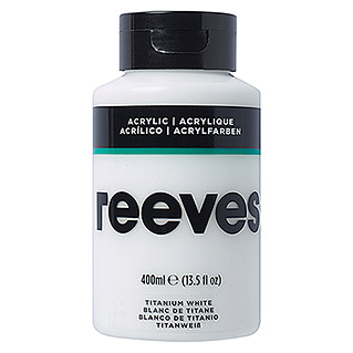 Reeves Acrylfarbe (Titanweiß, 400 ml, Tube)