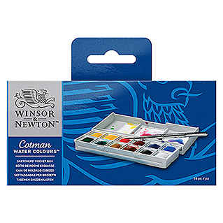 Winsor & Newton Cotman Aquarellfarben-Set Sketcher´s Pocket Box (12 Näpfchen)
