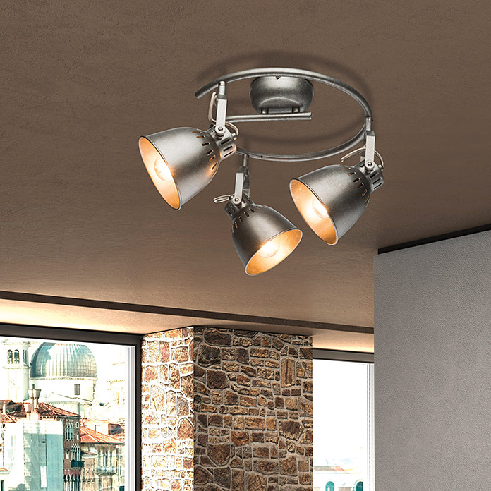 Tween Light Regleta redonda Industry (3 luces, 3 × 40 W)