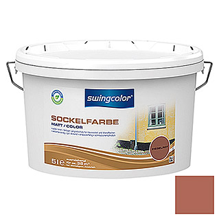 swingcolor Sockelfarbe (Ziegelrot, 5 l, Matt)