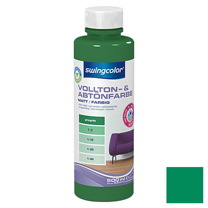 swingcolor Vollton- & Abtönfarbe  (Grasgrün, 500 ml)