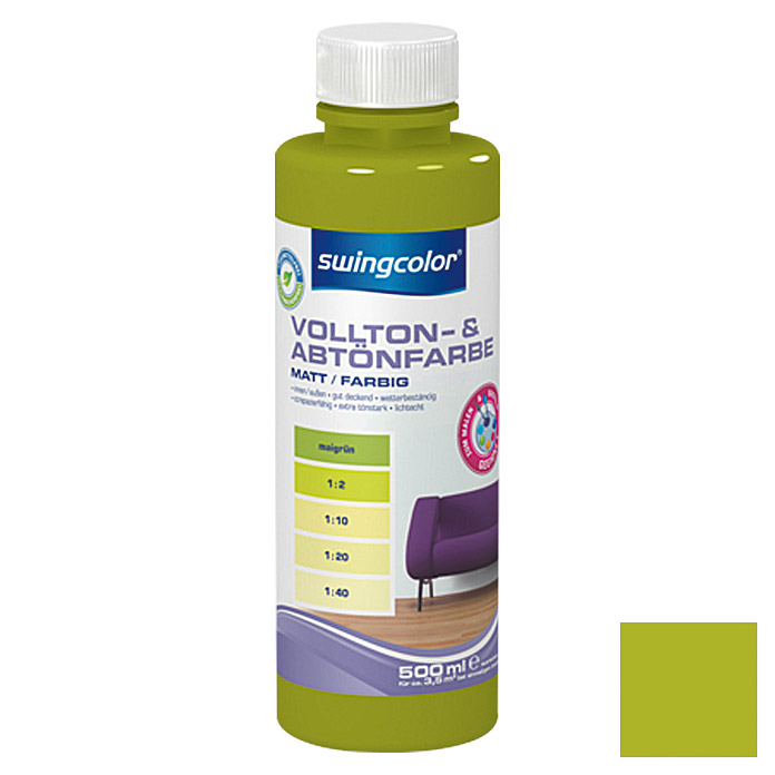 swingcolor Vollton- & Abtönfarbe  (Maigrün, 500 ml)