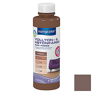swingcolor Vollton- & Abtönfarbe (Moccabraun, 500 ml, Matt)