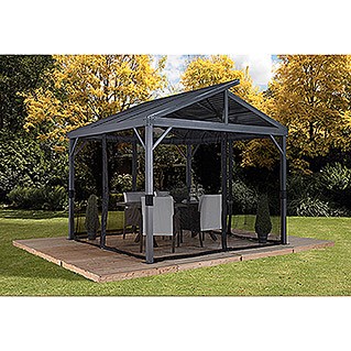 Sojag Pavillon South Beach 12 x 12 (363 x 363 x 313 cm, Anthrazit, Satteldach)
