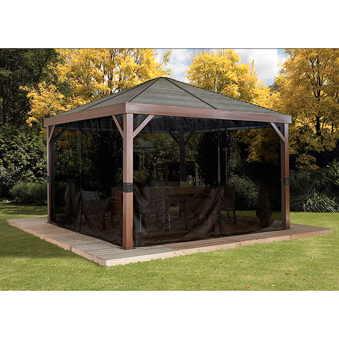 Sojag Pavillon South Beach 12 x 12 (363 x 363 x 310 cm, Braun, Zeltdach)