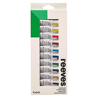 Reeves Acrylfarbenset (12 x 10 ml Tuben)