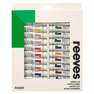 Reeves Acrylfarbenset (24 x 10 ml Tuben)