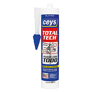 Ceys Adhesivo y sellador Ms-Tech  (Blanco, 290 ml)