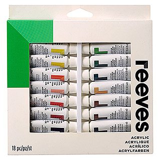 Reeves Acrylfarben-Set (18 x 10 ml Tuben)