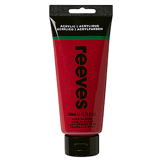 Reeves Acrylfarbe (Krapplackrosa, 200 ml, Tube)