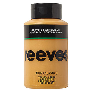 Reeves Acrylfarbe (Ockergelb, 400 ml, Tube)