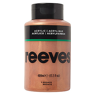 Reeves Acrylfarbe (Bronze, 400 ml, Tube)