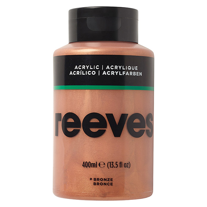 Reeves Acrylfarbe (Bronze, 400 ml, Tube) -