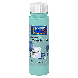 swingcolor KIDS Wandfarbe (Minzbonbon, 250 ml, Matt)