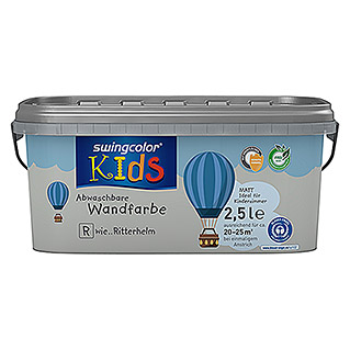 swingcolor KIDS Wandfarbe (Ritterhelm, 2,5 l, Matt)