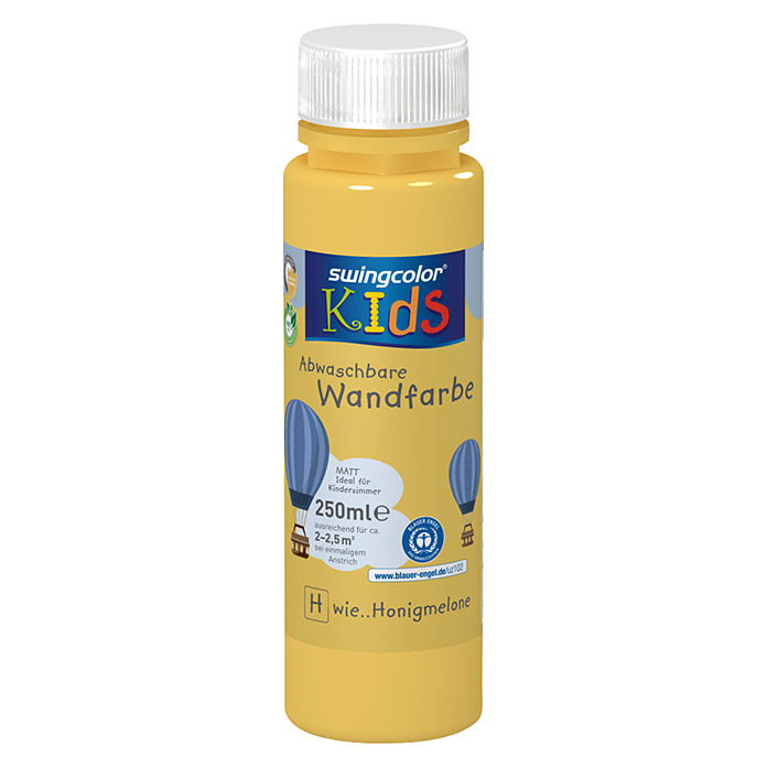 swingcolor KIDS Wandfarbe (Honigmelone, 250 ml, Matt) -