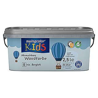 swingcolor KIDS Wandfarbe (Bergluft, 2,5 l, Matt)