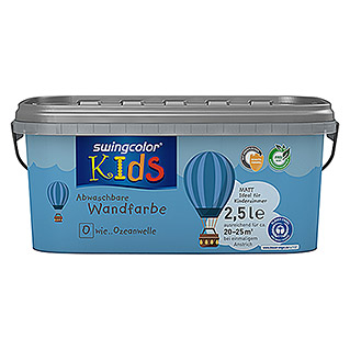 swingcolor KIDS Wandfarbe (Ozeanwelle, 2,5 l, Matt)