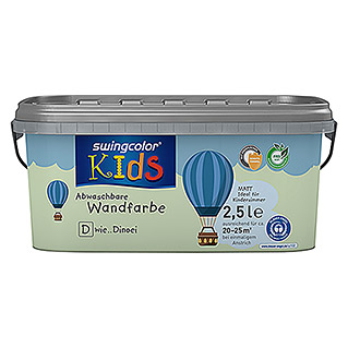 swingcolor KIDS Wandfarbe (Dinoei, 2,5 l, Matt)