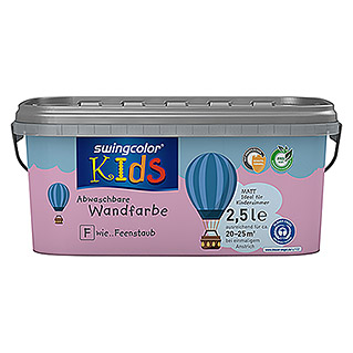 swingcolor KIDS Wandfarbe (Feenstaub, 2,5 l, Matt)
