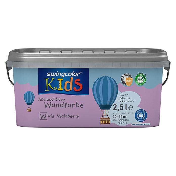swingcolor KIDS Wandfarbe (Waldbeere, 2,5 l, Matt) -