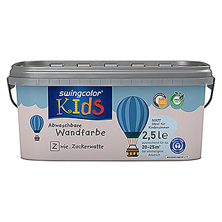 swingcolor KIDS Wand- & Deckenfarbe (Zuckerwatte, 2,5 l, Matt)
