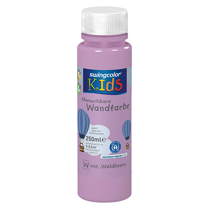 swingcolor KIDS Wandfarbe (Waldbeere, 250 ml, Matt) -