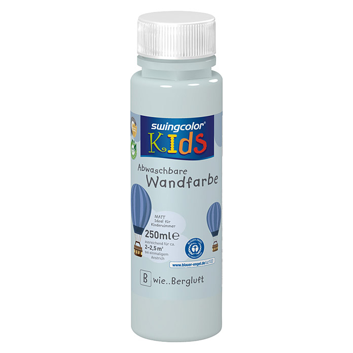 swingcolor KIDS Wand- & Deckenfarbe (Bergluft, 250 ml, Matt)