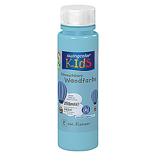 swingcolor KIDS Wand- & Deckenfarbe (Eismeer, 250 ml, Matt)